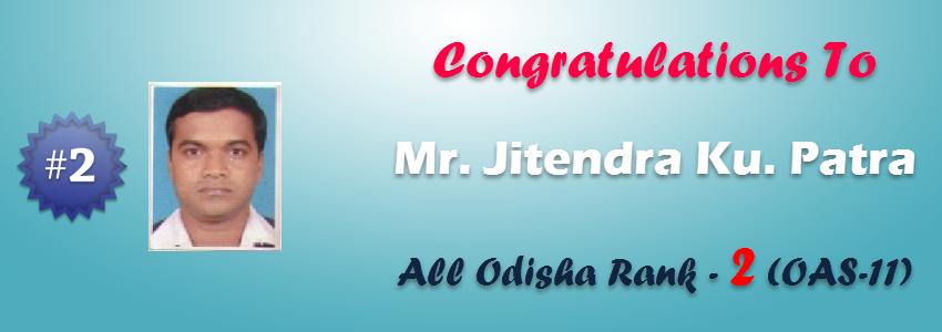 Congrats Jitendra Ku. Patra
