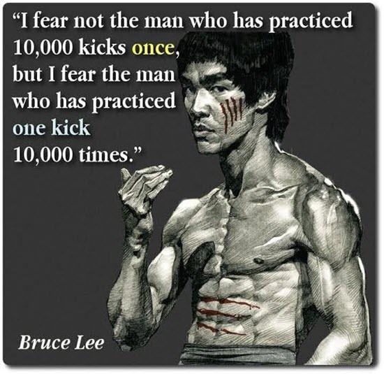 Bruce Lee on Kicks