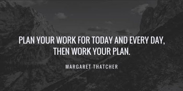 Plan Your Work